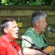 Andy und Frank zum Waldgottesdienst Striegistal 2014