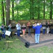 Posaunenchor zum Waldgottesdienst am Waldhaus Kalkbrüche Striegistal 2014